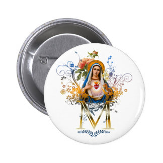 Immaculate Heart of Mary Buttons