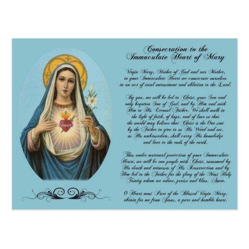 Immaculate Heart of Mary Custom Postcard