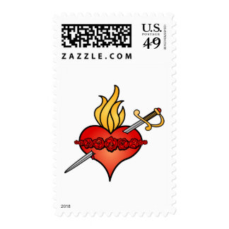 Immaculate Heart of Mary Icon Postage Stamp