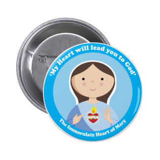Immaculate Heart of Mary Pinback Button