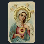 "Immaculate Heart of Mary Refrigerator/CAR Magnet<br><div class=""desc"">Beautiful image of the Immaculate Heart of Mary with cherubs above her.</div>"