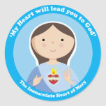 Immaculate Heart of Mary Round Sticker