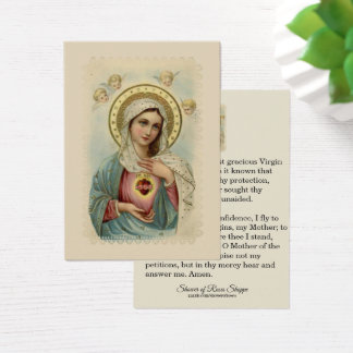 Immaculate Heart of Mary Sorrowful Holy Card