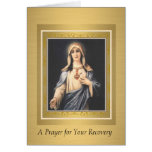 Immaculate Heart of Virgin Mary Recovery Get Well Card