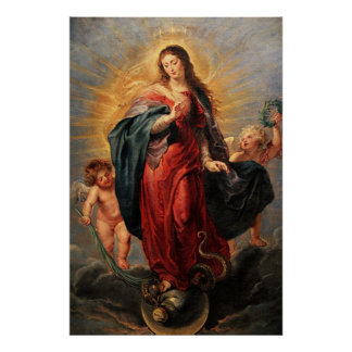 Immaculate Heart Virgin Mary Poster - Virgen Maria