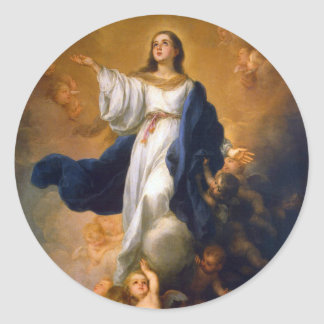 Immaculate Mary Classic Round Sticker
