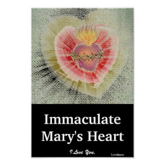 Immaculate Mary's Heart Poster-Customize Poster