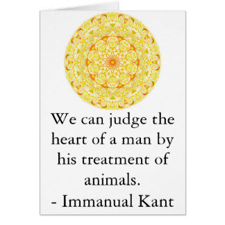 Immanual Kant Animal Rights  quote Card