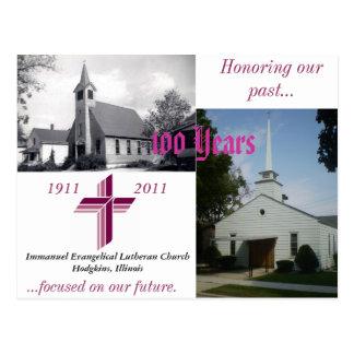 Immanuel 100th Anniversary Postcard