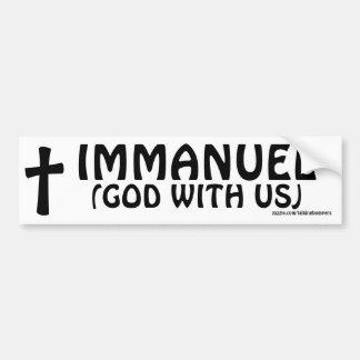 Immanuel God With Us Car Bumper Sticker
