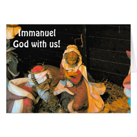 Immanuel, God with us Card