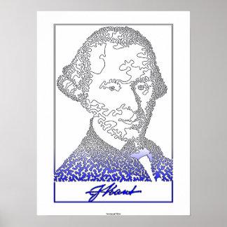 Immanuel Kant. Fundador de la filosofía alemana. [ Póster