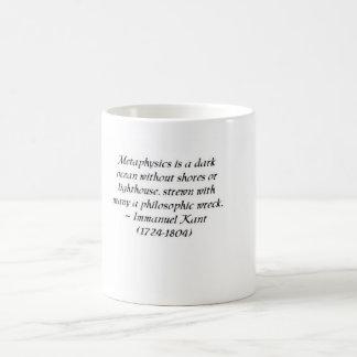 Immanuel Kant on metaphysics and philosophy Classic White Coffee Mug