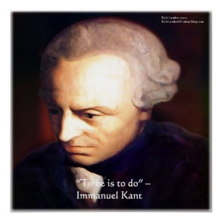 """Immanuel Kant """"para hacer"""" los posters de la cita"""