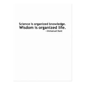 Immanuel Kant Quotation Postcard