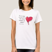 Immanuel Kant quote man's treatment of animals T-Shirt