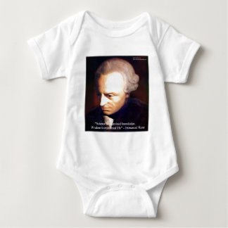 Immanuel Kant Science Vs Knowledge Quote Gifts Baby Bodysuit
