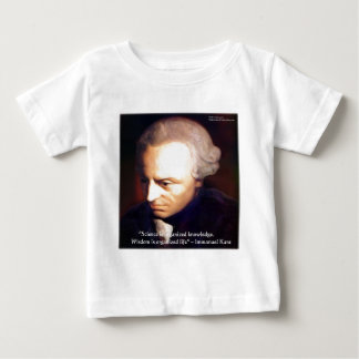 Immanuel Kant Science Vs Knowledge Quote Gifts Baby T-Shirt