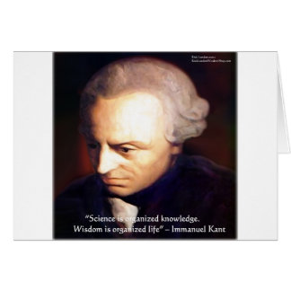 Immanuel Kant Science Vs Knowledge Quote Gifts Card