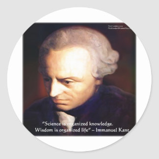 Immanuel Kant Science Vs Knowledge Quote Gifts Classic Round Sticker