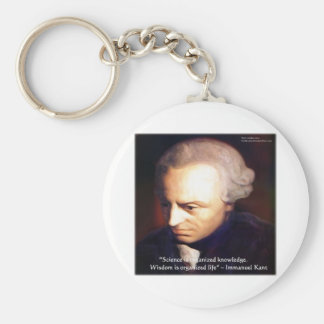 Immanuel Kant Science Vs Knowledge Quote Gifts Keychain