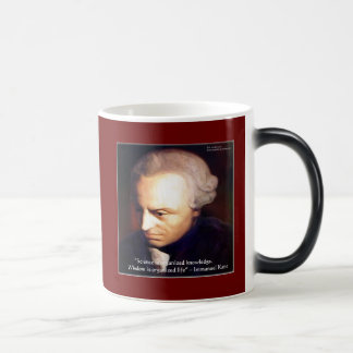 Immanuel Kant Science Vs Knowledge Quote Gifts Magic Mug