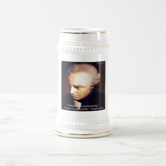 Immanuel Kant Science Vs Knowledge Quote Gifts 18 Oz Beer Stein