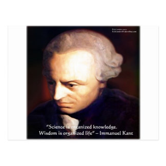 Immanuel Kant Science Vs Knowledge Quote Gifts Post Card