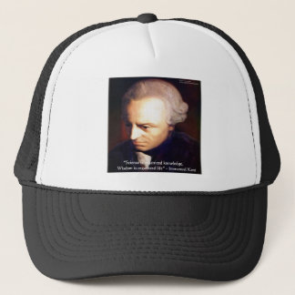 Immanuel Kant Science Vs Knowledge Quote Gifts Trucker Hat