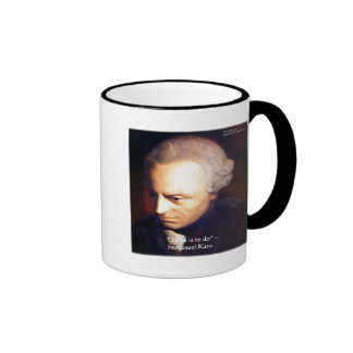 """Immanuel Kant """"To Do"""" Wisdom Quote Gifts & Tees Ringer Mug"""