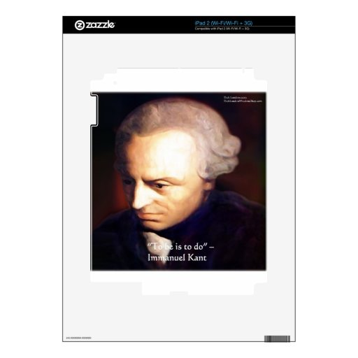 "Immanuel Kant ""To Do"" Wisdom Quote Gifts & Tees iPad 2 Skins"