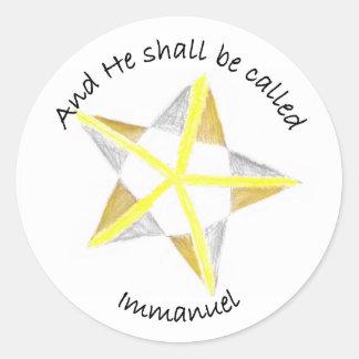 Immanuel Round Stickers