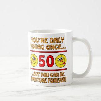 Immature 50th Birthday Gag Gifts Classic White Coffee Mug