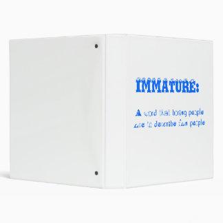 IMMATURE = Fun People Binder