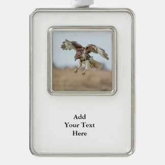 Immature Red Tailed Hawk Hovering Christmas Ornament