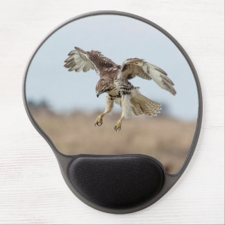 Immature Red Tailed Hawk Hovering Gel Mouse Pad