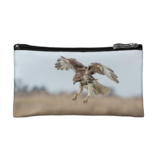 Immature Red Tailed Hawk Hovering Makeup Bag