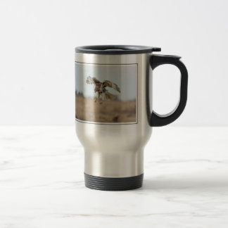 Immature Red Tailed Hawk Hovering Travel Mug