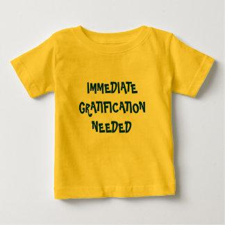 IMMEDIATE GRATIFICATION NEEDED kids shirt