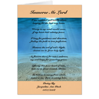 Immerse Me Lord Greeting Card