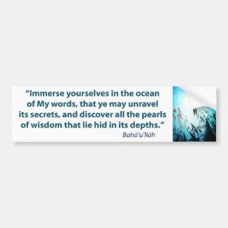 Immerse Ocean Car Bumper Sticker