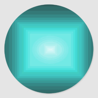 Immersed in Turquoise Modern Design CricketDiane Classic Round Sticker