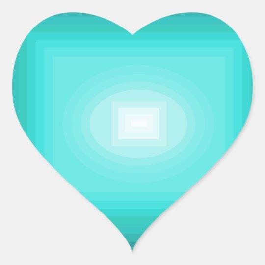 Immersed in Turquoise Modern Design CricketDiane Heart Sticker
