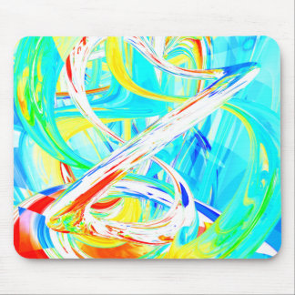 Immersed in Vividness Abstract Mouse Pad