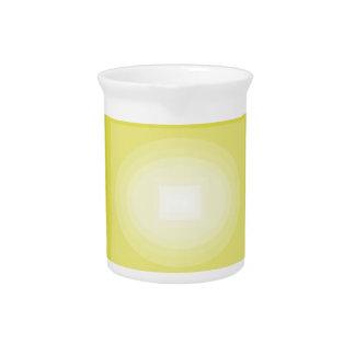 Immersed in Yellow Modern Art Design CricketDiane Drink Pitcher