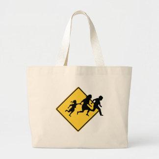 Immigrant crossing canvas bag