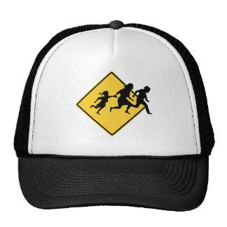 Immigrant crossing mesh hats
