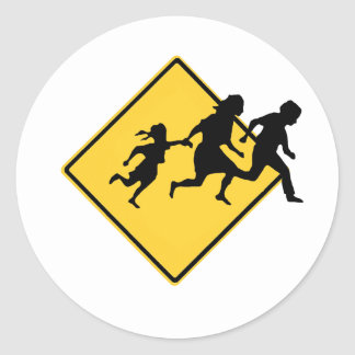 Immigrant crossing sticker