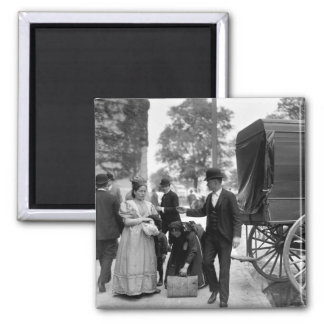 Immigrants at Battery Park, 1900 2 Inch Square Magnet