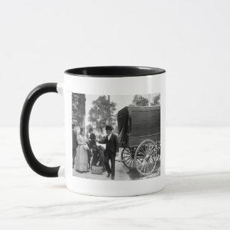 Immigrants at Battery Park, 1900 Mug